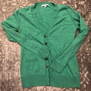 Blue/green button down sweater